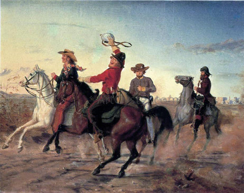 Carl G. Von Iwonski The Terry Rangers - Hand Painted Oil Painting