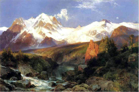 Thomas Moran The Teton Range - Hand Painted Oil Painting
