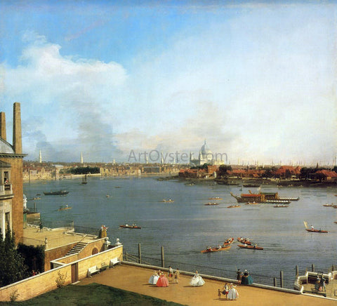 Canaletto The Thames and the City of London from Richmond House - Hand Painted Oil Painting