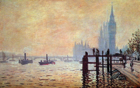 Claude Oscar Monet The Thames Below Westminster - Hand Painted Oil Painting