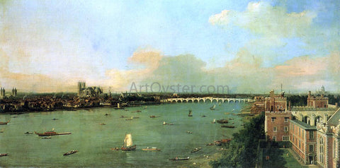 Canaletto The Thames with St. Paul's Cathedral - Hand Painted Oil Painting