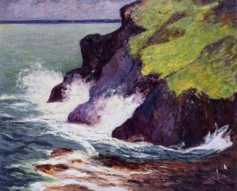 Maxime Maufra The Three Cliffs - Hand Painted Oil Painting