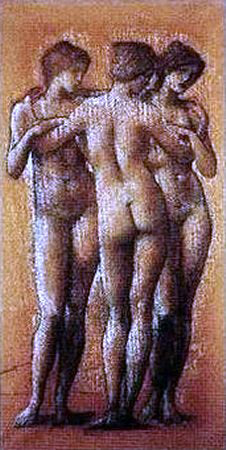 Sir Edward Burne-Jones The Three Graces - Hand Painted Oil Painting