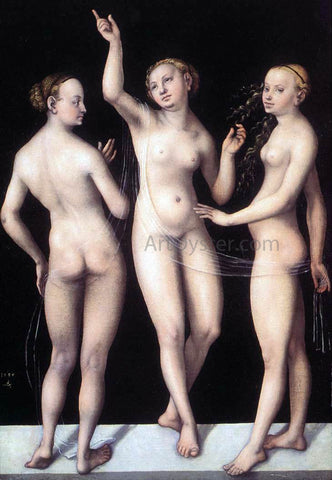 The Elder Lucas Cranach The Three Graces - Hand Painted Oil Painting