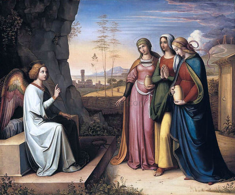 Peter Cornelius The Three Marys at the Tomb - Hand Painted Oil Painting