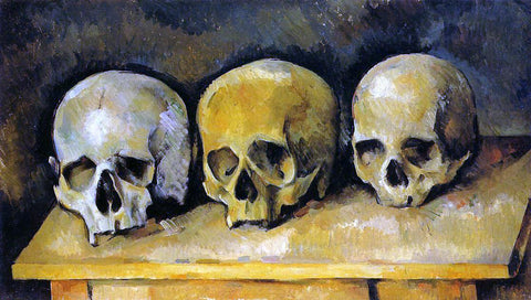 Paul Cezanne The Three Skulls - Hand Painted Oil Painting
