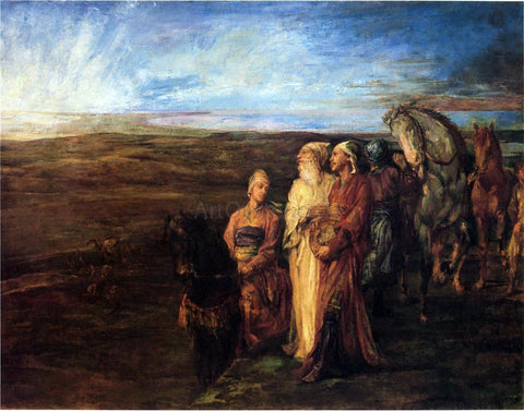 John La Farge The Three Wise Men (also known as Halt of the Wise Men) - Hand Painted Oil Painting