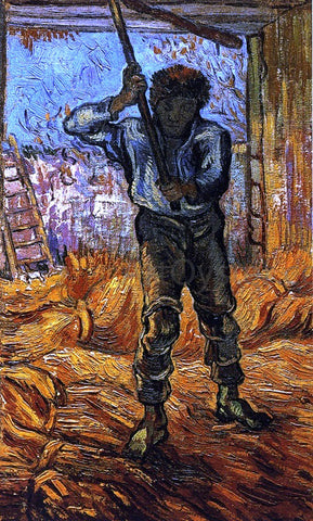 Vincent Van Gogh The Thresher (after Millet) - Hand Painted Oil Painting