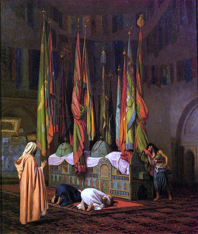 Jean-Leon Gerome The Tomb of Hazrat Imam Hisain Allahis Salam - Hand Painted Oil Painting