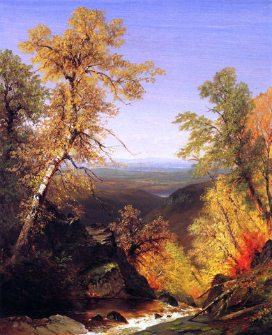Richard William Hubbard The Top of Kaaterskill Falls, Autumn - Hand Painted Oil Painting