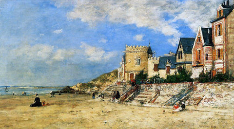 Eugene-Louis Boudin The Tour Malakoff and the Trouville Shore - Hand Painted Oil Painting