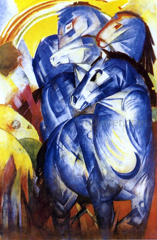 Franz Marc The Tower of Blue Horses - Hand Painted Oil Painting
