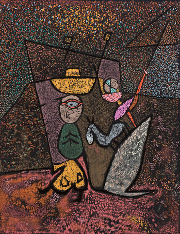 Paul Klee The Travelling Circus - Hand Painted Oil Painting