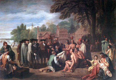 Benjamin West The Treaty of Penn with the Indians - Hand Painted Oil Painting