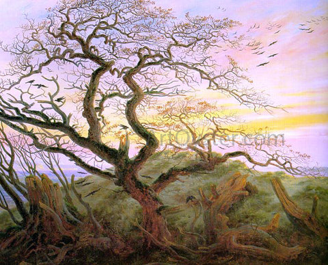 Caspar David Friedrich The Tree of Crows - Hand Painted Oil Painting