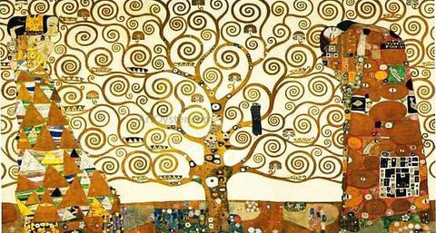 Gustav Klimt Tree of Life Stoclet Frieze - Hand Painted Oil Painting