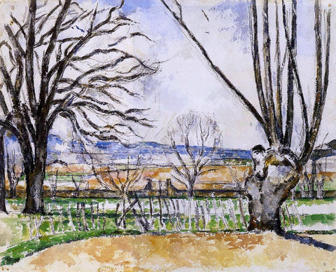 Paul Cezanne The Trees of Jas de Bouffan in Spring - Hand Painted Oil Painting