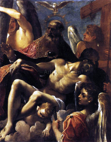 Lodovico Carracci The Trinity with the Dead Christ - Hand Painted Oil Painting
