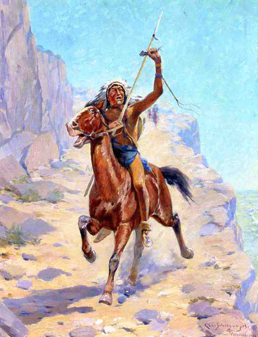 Charles Schreyvogel The Triumph - Hand Painted Oil Painting