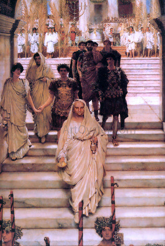 Sir Lawrence Alma-Tadema The Triumph of Titus - Hand Painted Oil Painting