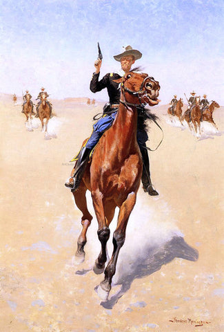 Frederic Remington The Trooper - Hand Painted Oil Painting