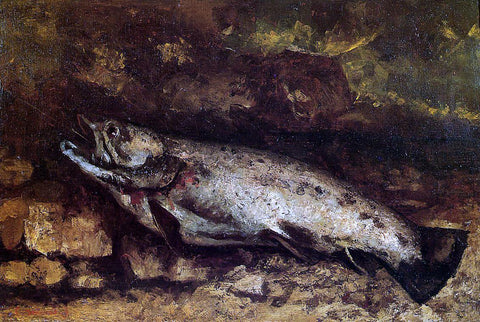 Gustave Courbet The Trout - Hand Painted Oil Painting