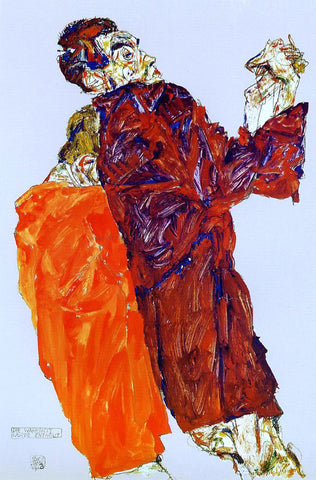 Egon Schiele The Truth was Revealed - Hand Painted Oil Painting