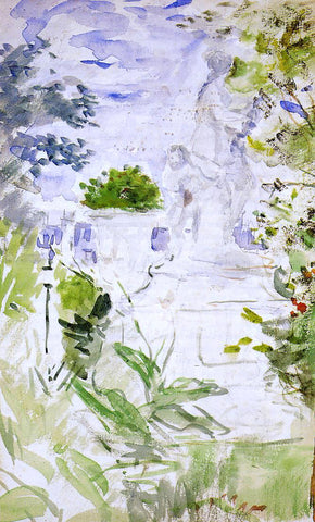 Berthe Morisot The Tuileries - Hand Painted Oil Painting