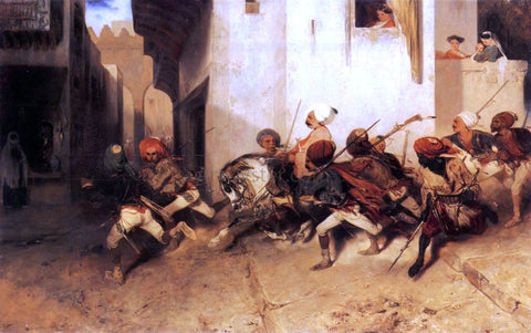 Alexandre Gabriel Decamps The Turkish Patrol - Hand Painted Oil Painting