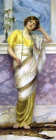 William Clarke Wontner The Turquoise Necklace - Hand Painted Oil Painting