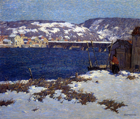 Robert Spencer The Two Shores - Hand Painted Oil Painting