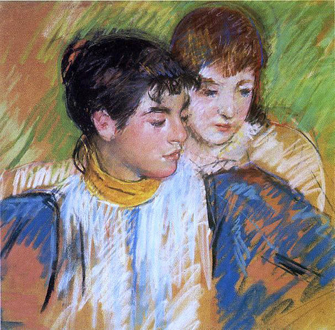 Mary Cassatt The Two Sisters - Hand Painted Oil Painting
