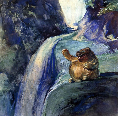 John La Farge The Uncanny Badger - Hand Painted Oil Painting