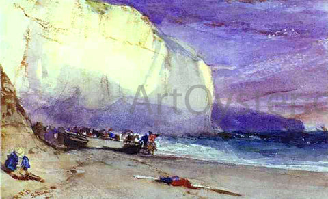 Richard Parkes Bonington The Undercliff - Hand Painted Oil Painting