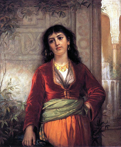John William Waterhouse The Unwelcome Companion - A Street Scene in Cairo - Hand Painted Oil Painting