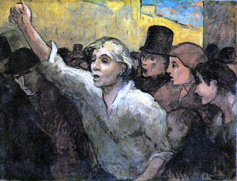 Honore Daumier The Uprising - Hand Painted Oil Painting