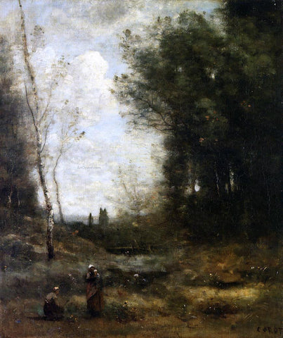 Jean-Baptiste-Camille Corot The Valley - Hand Painted Oil Painting