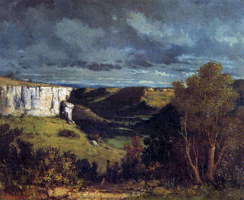 Gustave Courbet The Valley of the Loue in Stormy Weather - Hand Painted Oil Painting