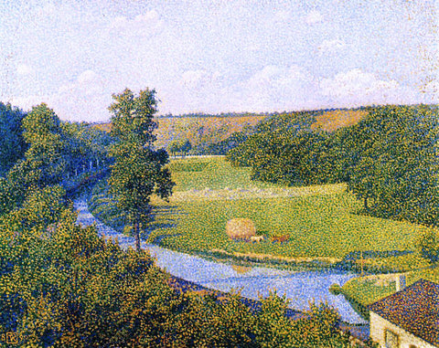 Theo Van Rysselberghe The Valley of the Sambre - Hand Painted Oil Painting
