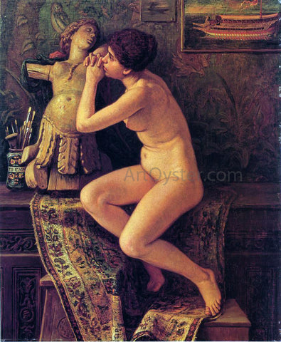 Elihu Vedder The Venetian Model - Hand Painted Oil Painting