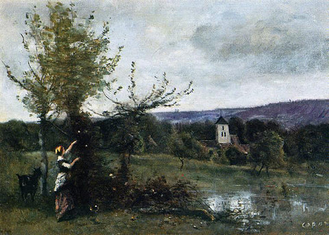 Jean-Baptiste-Camille Corot The Verdant Bank - Hand Painted Oil Painting