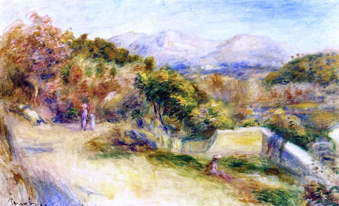 Pierre Auguste Renoir The View from Collettes, Cagnes - Hand Painted Oil Painting