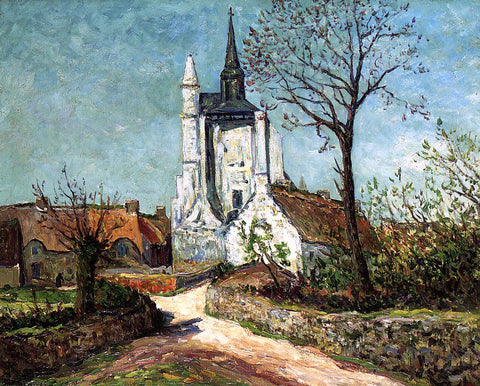 Maxime Maufra The Village and Chapel of Sainte-Avoye (also known as Morbihan) - Hand Painted Oil Painting