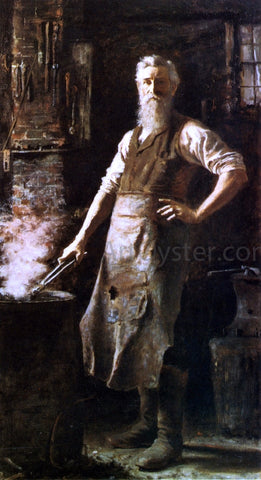 Thomas Hovenden The Village Blacksmith - Hand Painted Oil Painting