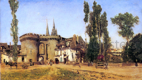 Martin Rico Y Ortega The Village of Chartres - Hand Painted Oil Painting