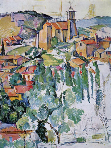 Paul Cezanne A Village of Gardanne - Hand Painted Oil Painting