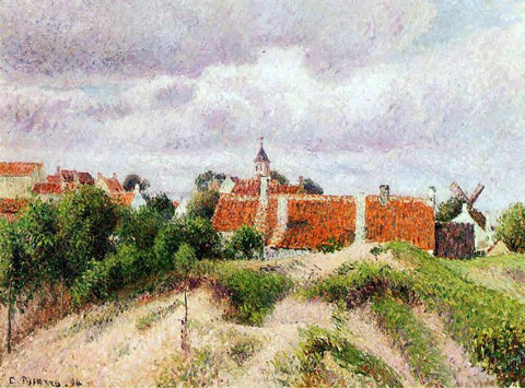 Camille Pissarro The Village of Knocke, Belgium - Hand Painted Oil Painting