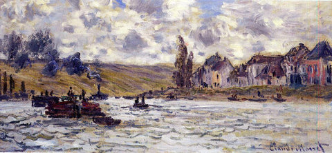Claude Oscar Monet The Village of Lavacourt - Hand Painted Oil Painting
