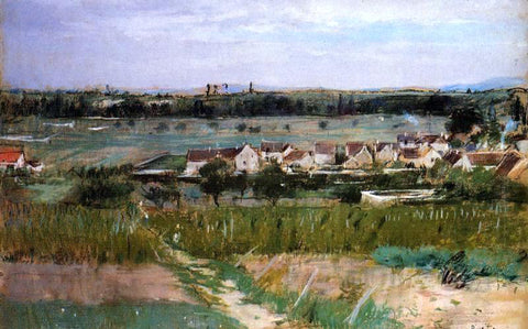 Berthe Morisot The Village of Maurecourt - Hand Painted Oil Painting