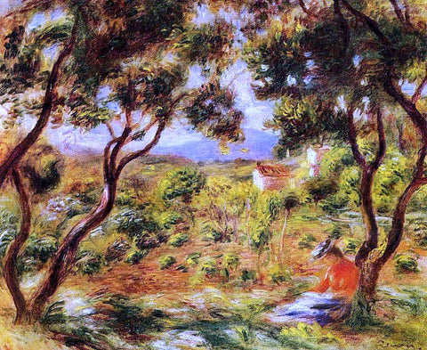 Pierre Auguste Renoir The Vineyards of Cagnes - Hand Painted Oil Painting